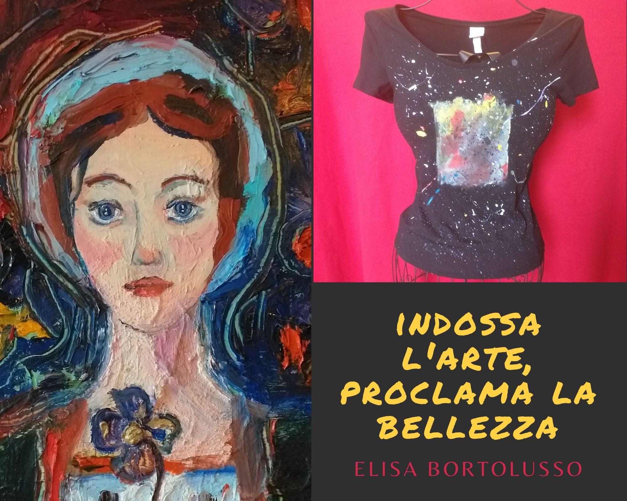 Elisa realizza i suoi quadri e le sue magliette dipinte a mano a San Vito al Tagliamento. Le sue creazioni accompagnano chi le sceglie nel mondo dei grandi, per continuare il loro viaggio in punta di piedi